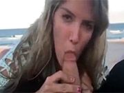Beach Oral Sex and Fuck with Girlfriend